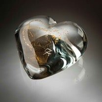 GOLDEN HEART – Art Crystal Glass interlaced with 24-carat Gold