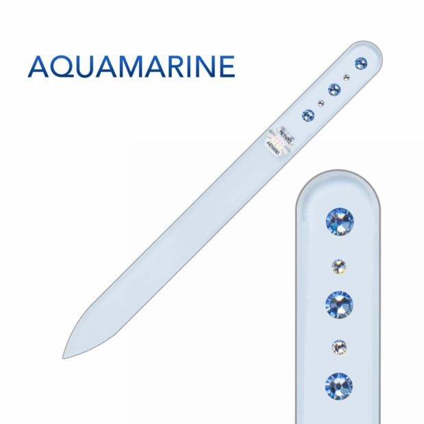 AQUAMARINE Crystal Nail File Long by Blazek title