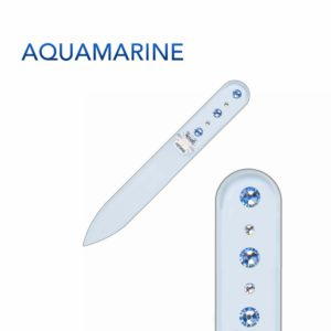 AQUAMARINE Crystal Nail File Short by Blazek title