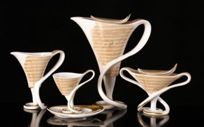 Antonin Dvorak Porcelain Coffee Set Limited Edition Set for 6 persons