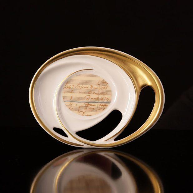 Antonin Dvorak Porcelain Coffee Set Saucer Limited Edition Crystallo by Thun Studio 14