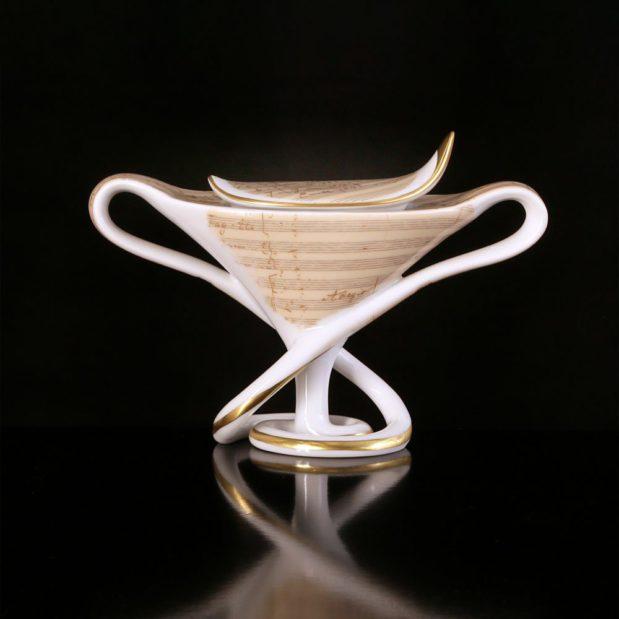 Antonin Dvorak Porcelain Coffee Set Sugar Bowl Limited Edition Crystallo by Thun Studio 9