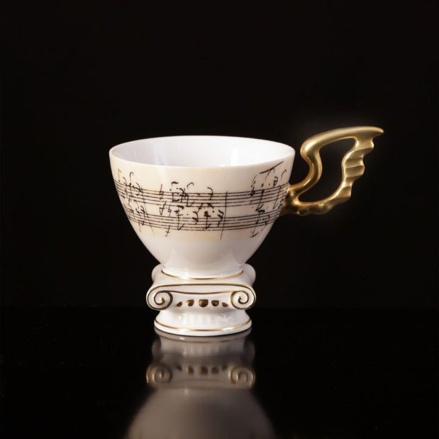 Beethoven Porcelain Coffee Set Limited Edition Crystallo by Thun Studio 17