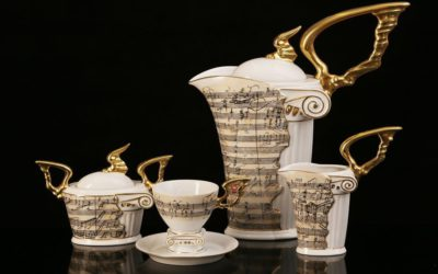 Beethoven Porcelain Coffee Set Limited Edition Set for 6 persons