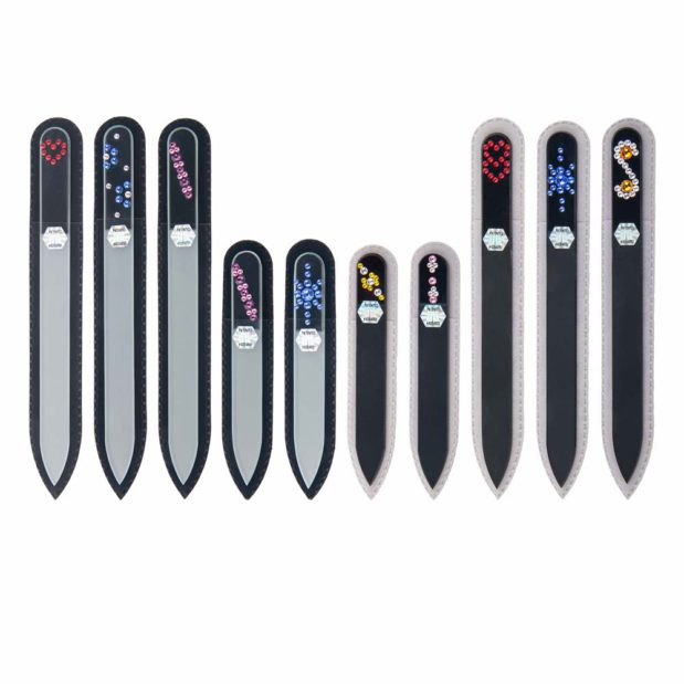 COLORFUL 50 Set Crystal Nail File by Blazek sleeve