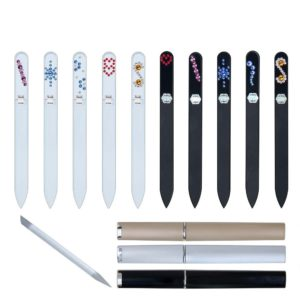 COLORFUL Long 50 Complete Set Crystal Nail File by Blazek