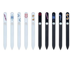COLORFUL Long 50 Set Crystal Nail File by Blazek