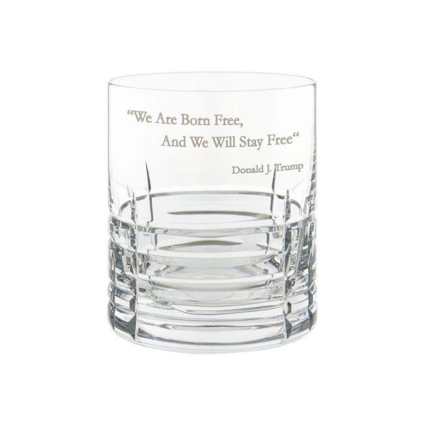 Donald Trump Presidency Whiskey Glass FREE Crystallo