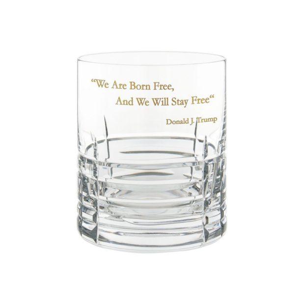 Donald Trump Presidency Whiskey Glass FREE Gilded Crystallo