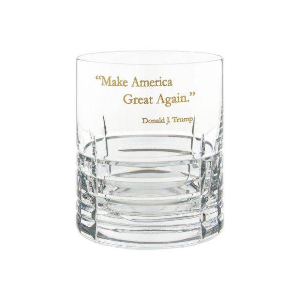 Donald Trump Presidency Whiskey Glass MAGA Gilded Crystallo