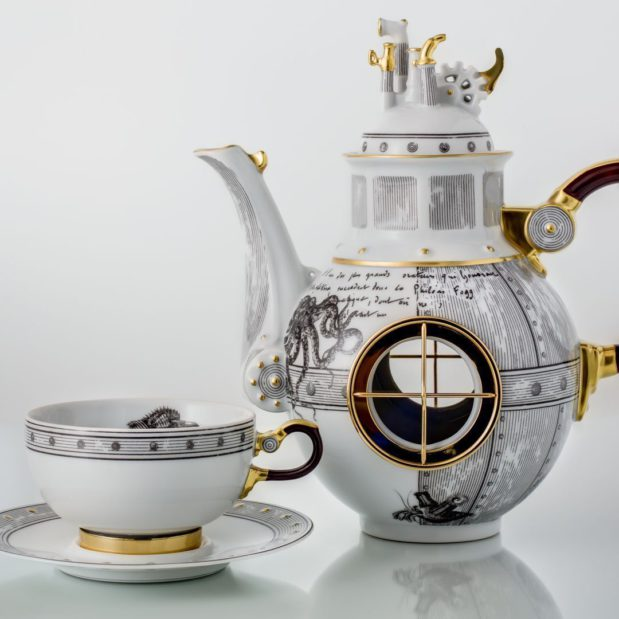 Jules Verne Porcelain Tea Set Limited Edition Crystallo by Thun Studio 1002