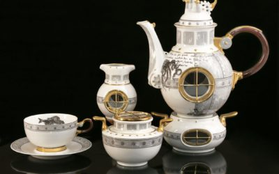 Jules Verne Porcelain Tea Set Limited Edition Set for 6 persons