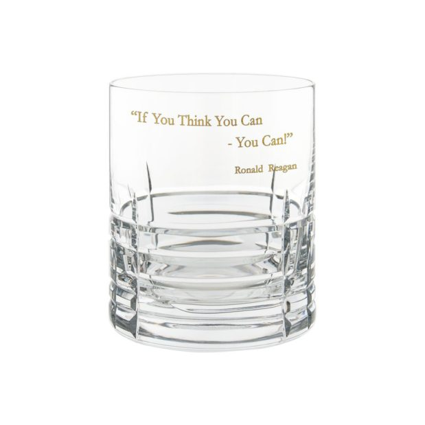 Ronald Reagan Presidency Whiskey Glass YOUCAN Gilded Crystallo