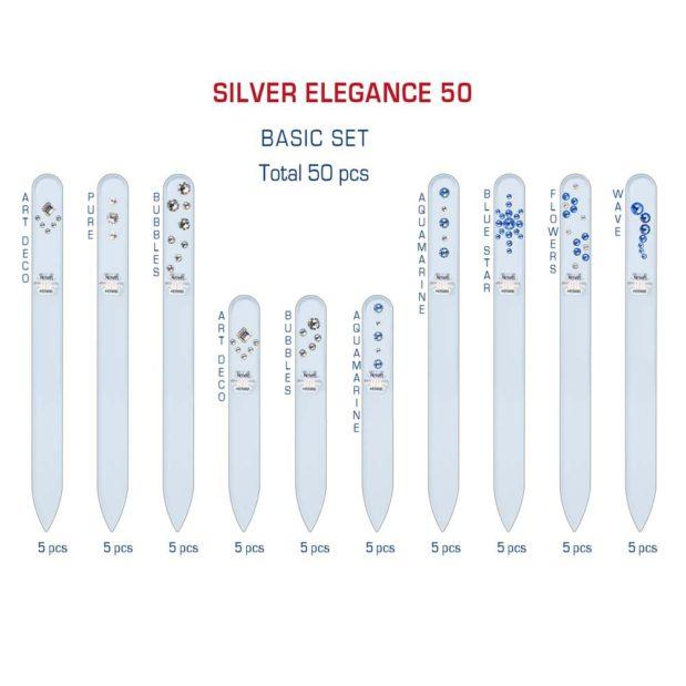 SILVER ELEGANCE 50 Set Crystal Nail File by Blazek detail