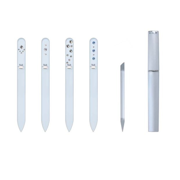 SILVER ELEGANCE Long 20 Complete Set Crystal Nail File by Blazek