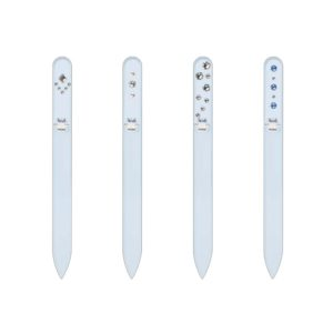 SILVER ELEGANCE Long 20 Set Crystal Nail File by Blazek