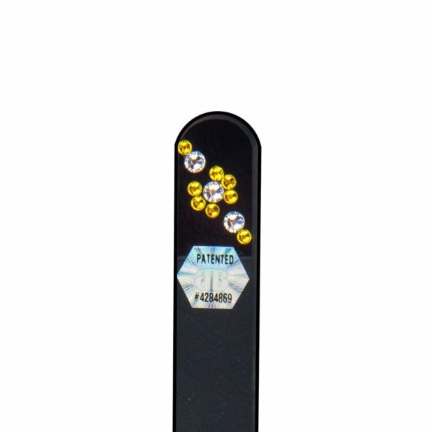 SUNSHINE Crystal Nail File Black Short by Blazek detail