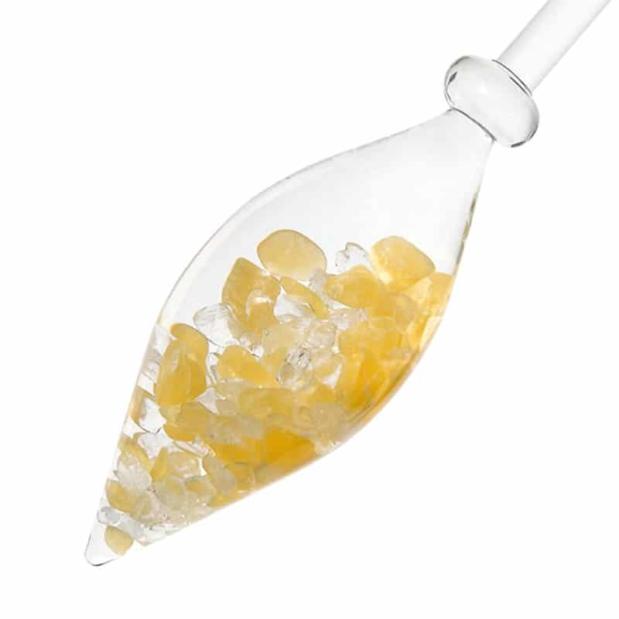 Sunny Morning gemstone vial crystallo by vitajuwel dec sq80