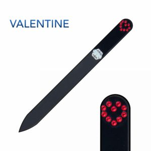 VALENTINE Crystal Nail File Black Long by Blazek title