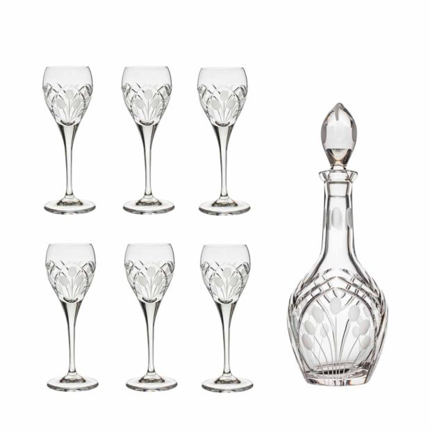 after dinner decanter set crystal brandy decanter cordial glasses nostalgia art deco Crystallo BG904NS 7