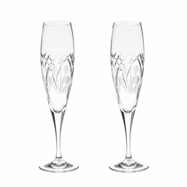 crystal champagne flute nostalgia art deco Crystallo BG401NS 2