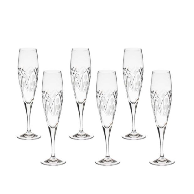 crystal champagne flute nostalgia art deco Crystallo BG401NS 6