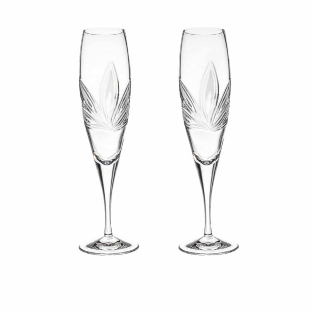 crystal champagne flute orchidea floral Crystallo BG401OR 2 1