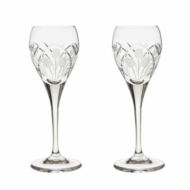 crystal cordial glass nostalgia art deco Crystallo BG301NS 2