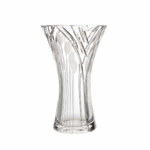 crystal curved vase medium nostalgia art deco Crystallo BG108NS
