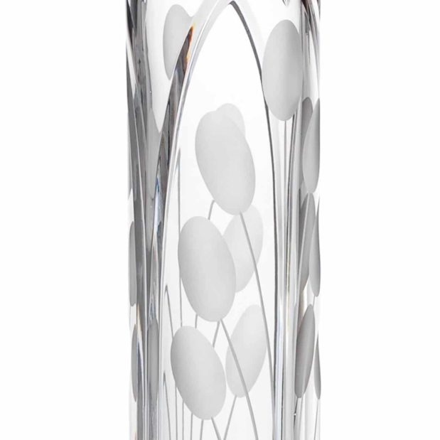 crystal cylinder vase tall nostalgia art deco Crystallo BG103NS 2