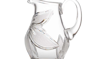 Cut Crystal Elegant Pitcher Boho Orchidea