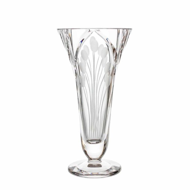 crystal footed vase nostalgia art deco Crystallo BG110NS