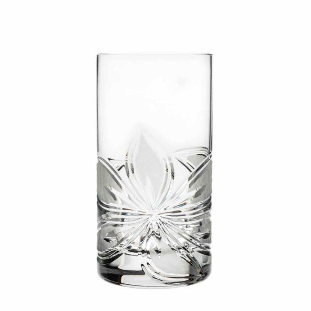 crystal highball glass orchidea floral Crystallo BG302OR