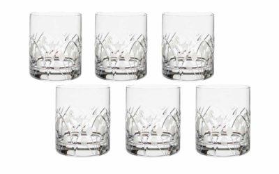 Cut Crystal Whiskey Glasses Set Art Deco Nostalgia Set of 6
