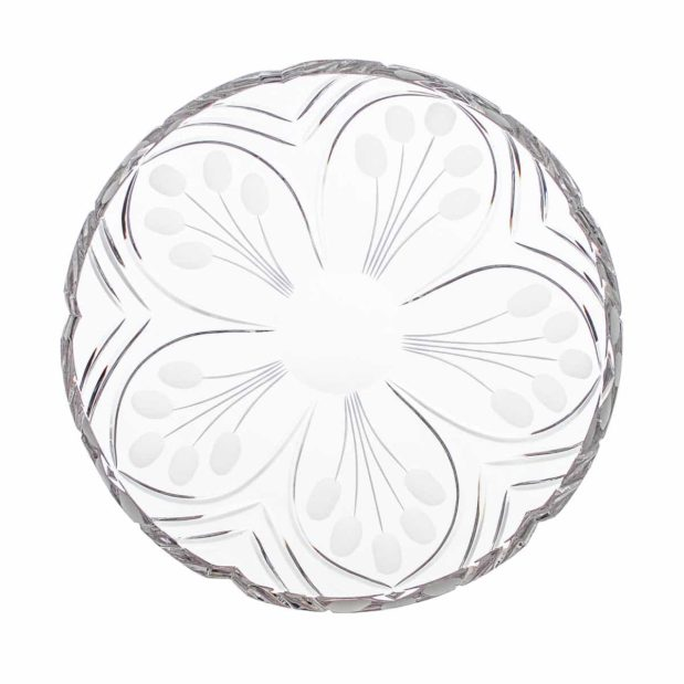 crystal plate nostalgia art deco Crystallo BG210NS