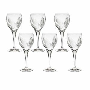 crystal red wine glass orchidea floral Crystallo BG404OR 6