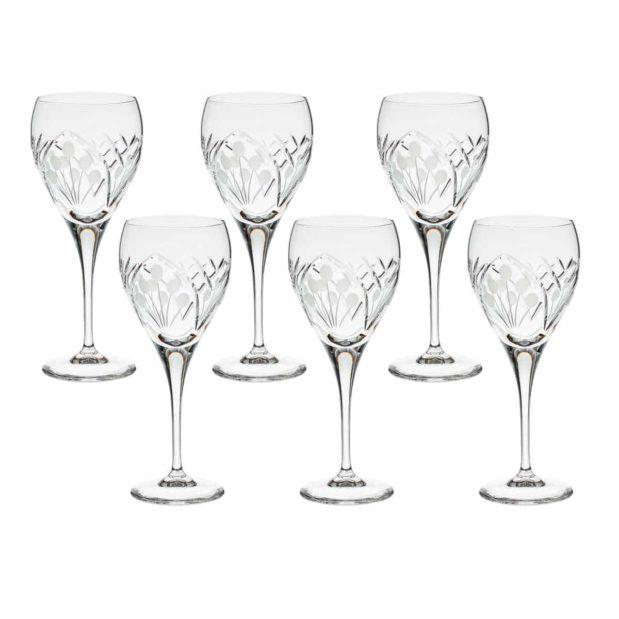 crystal red wine goblet nostalgia art deco Crystallo BG403NS 6