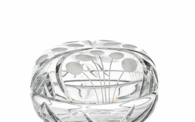 Cut Crystal Ring Bowl Art Deco Nostalgia