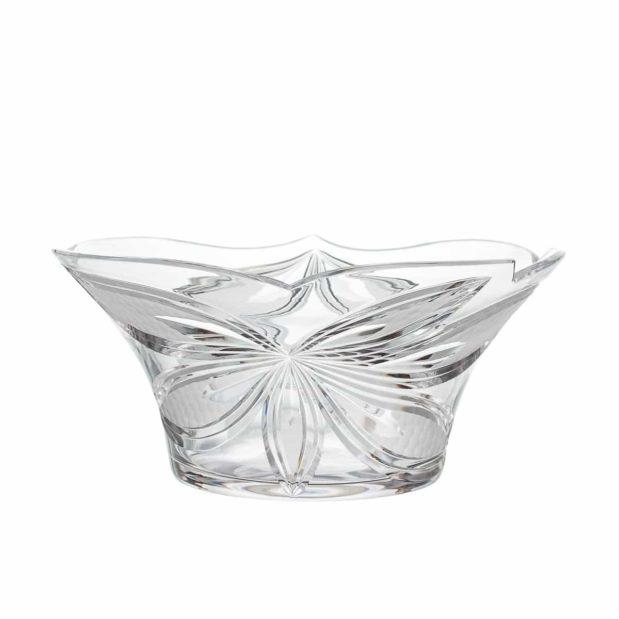 crystal salad bowl orchidea floral Crystallo BG205OR B