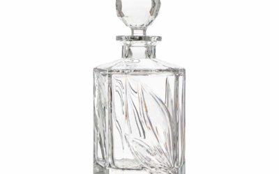 Cut Crystal Square Decanter Boho Orchidea