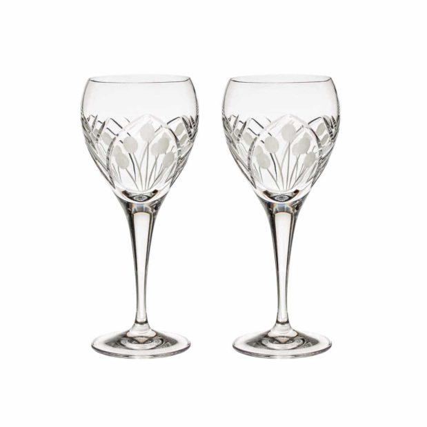 crystal white wine glass nostalgia art deco Crystallo BG402NS 2