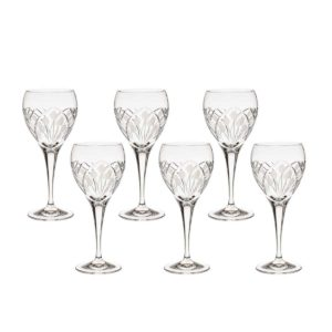 crystal white wine glass nostalgia art deco Crystallo BG402NS 6