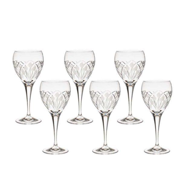 crystal white wine glass nostalgia art deco Crystallo BG402NS 6
