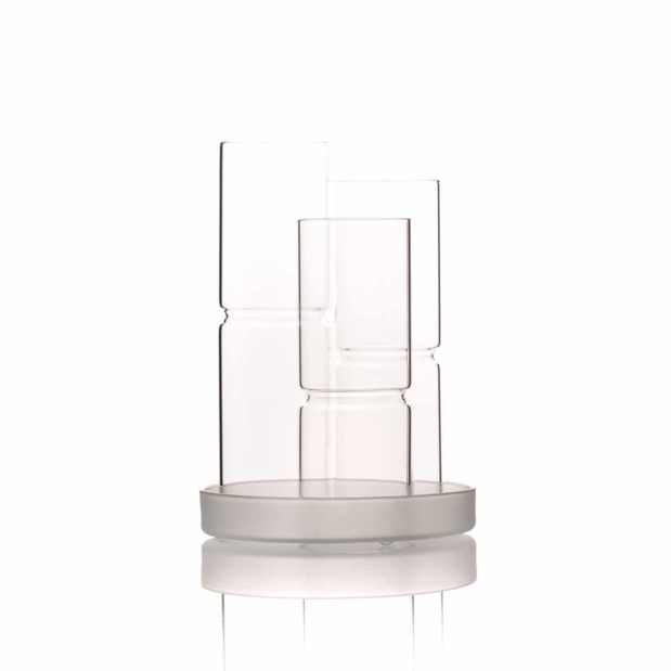 gemstone vial glass holder empty crystallo vitajuwel