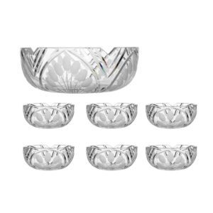 salad bowls set crystal salad bowl four small bowls nostalgia art deco Crystallo BG910NS 7