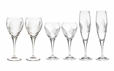 "WINE SET ""JUST FOR TWO"" – Champagne Flutes & Wine Glasses & Goblets Orchidea"